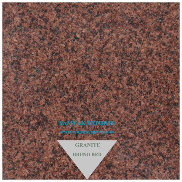 Bruno Red Granite Tile, Slab, Basin, Countertop Manufacturer, Supplier in India