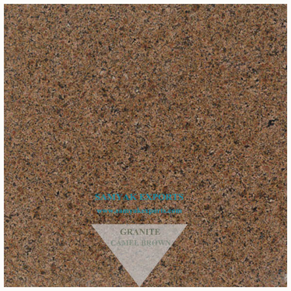 Camel Brown Granite Tile, Slab, Countertop Manufacturer in India