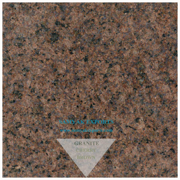 Cherry Brown Granite Tile, Slab, Step Riser, Countertop Manufacturer, Supplier, Exporter In India