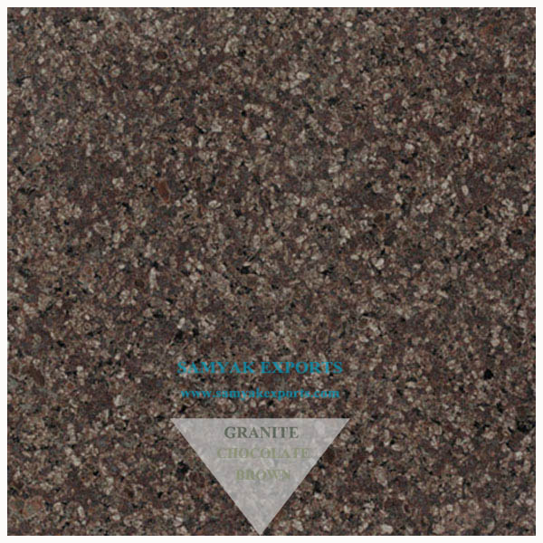 Chocolate Brown Granite Tile Slab Big Slab Size Supplier In India