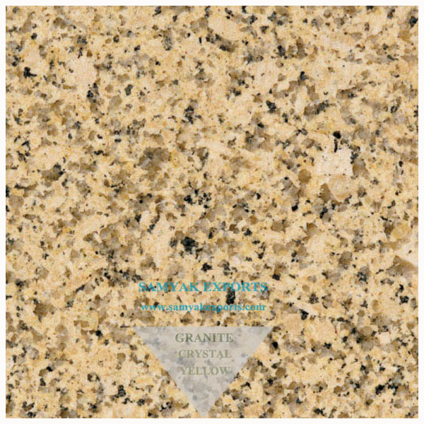 Crystal Yellow Granite Tile Slab,Kitchen Countertop Manufacturer, Supplier, Exporter In India