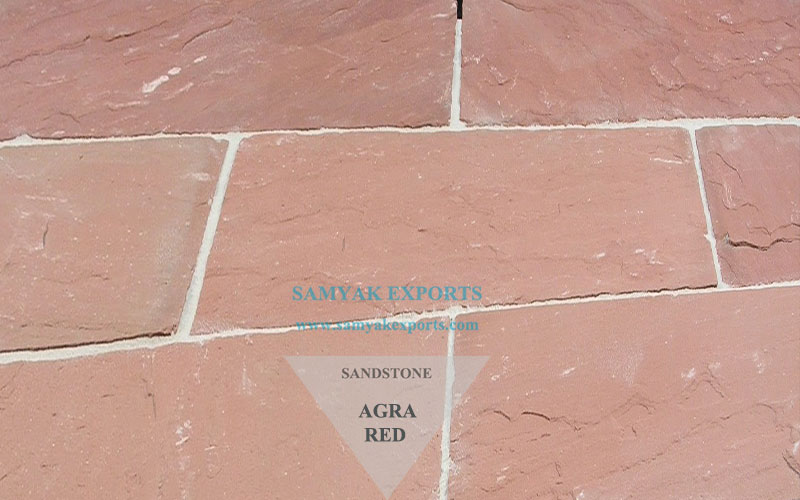 Agra Red Sandstone Tile Slab Manufacturer, Exporter In India