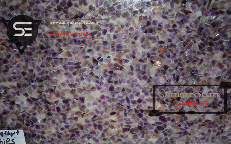 Amethyst Cluster Gemstone Tile Slab Manufacturer Exporter In India