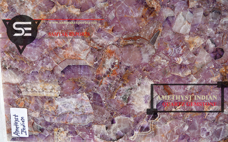 Amethyst Indian Quartz Tile Slab Countertop Tabletop Largest Manufacturer Supplier in India