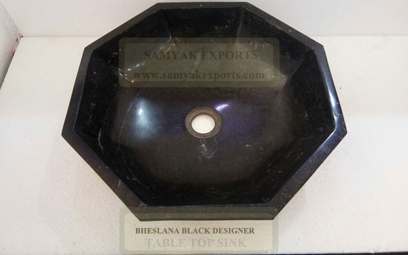 Bheslana Black Designer Table Top Sink, Designer Table Top Basin Manufacturer In India