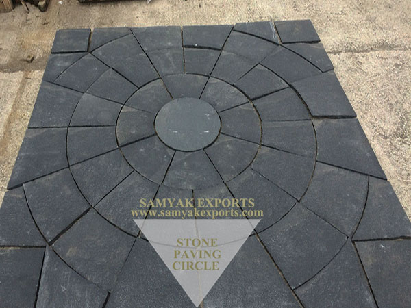 Black Limestone Paving Circle, Outdoor Paving Circle Kit Manufacturer in India