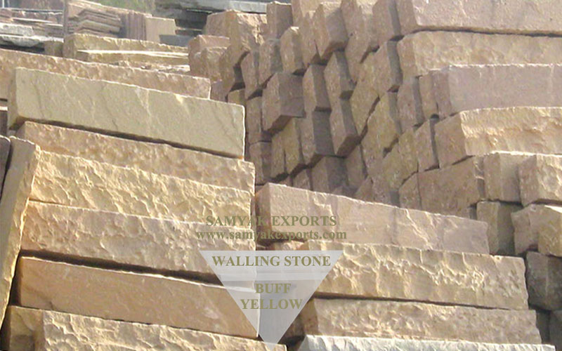 Buff Yellow Walling Stone, Stone For Wall Best Manufacturer in India