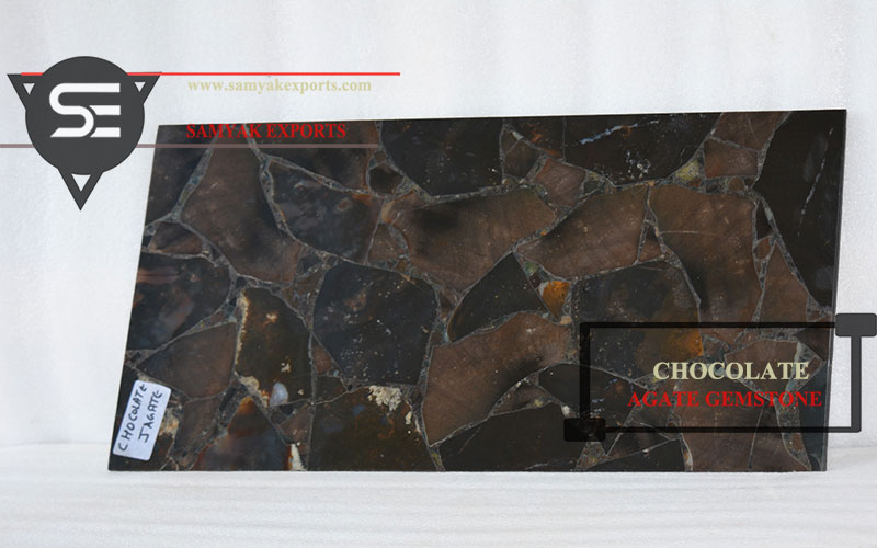 Chocolate Agate Gemstone Tile Slab
