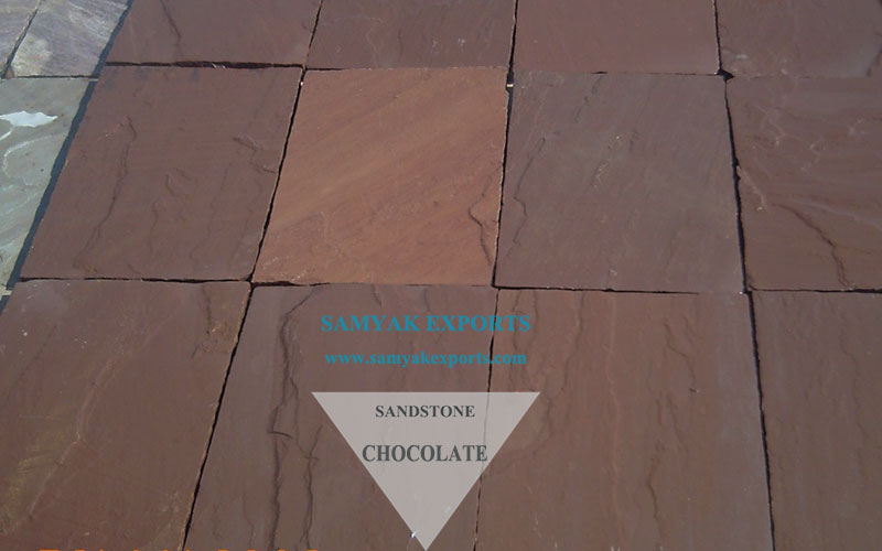 Chocolate Sandstone Tile Slab Big Manufacturing Company In India
