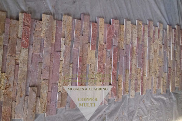 Copper Multi Stone Wall Cladding Panel, Exterior Stone For Wall Coping Manufacturer in Inida