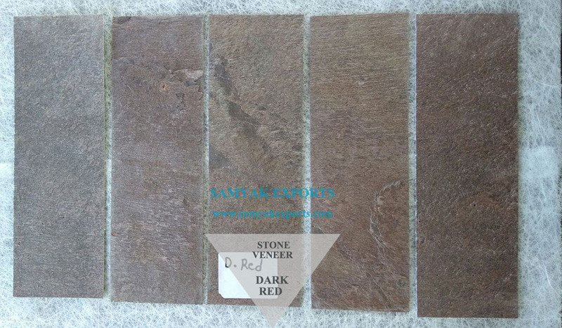 Dark Red Stone Veneer Manufacturer, Exporter, Supplier In India