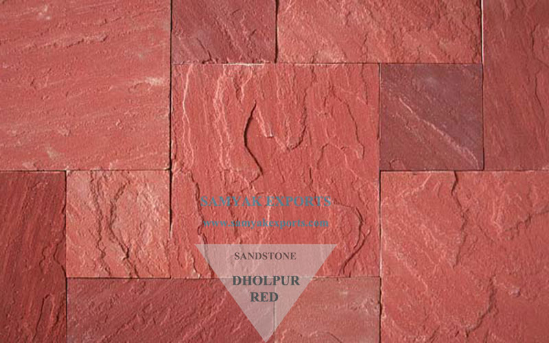 Dholpur Red Sandstone Tile Slab Top Exporter, Manufacturer in India