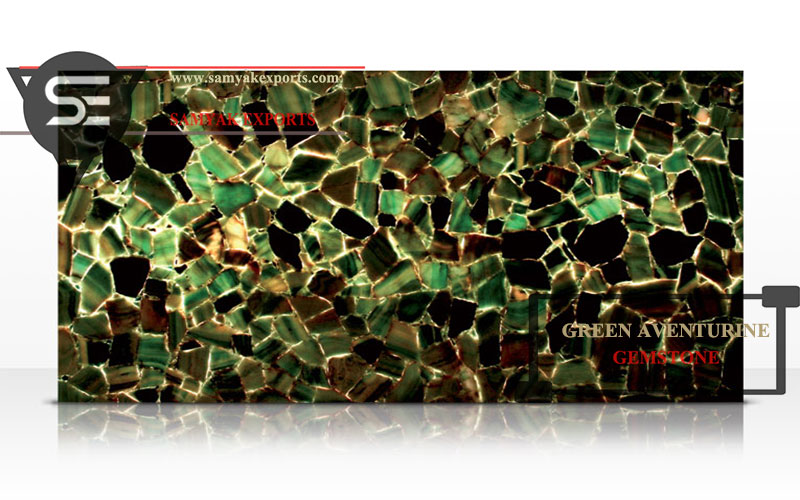Green Aventurine Gemstone Tile Slab Best Manufacturer, Supplier In Udaipur India