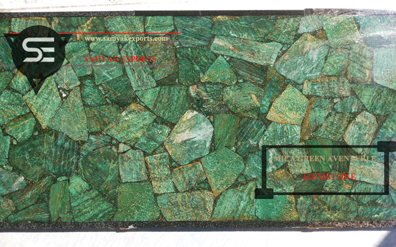 Green Mica Aventurine Gemstone Tile Slab Leading Manufacturer in Rajasthan India