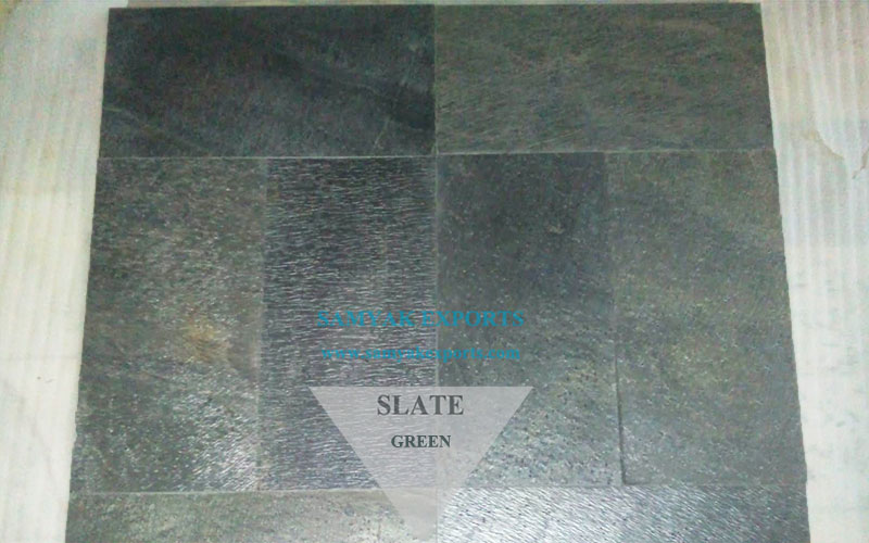 Green Slate Tile Slab For Interior and Exterior Manufacturer in India