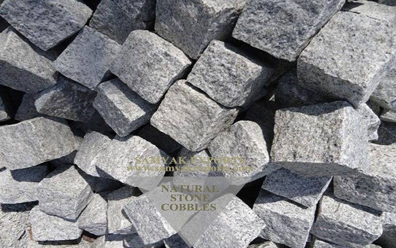 Grey Granite Stone Cobbles Manufacturer in India