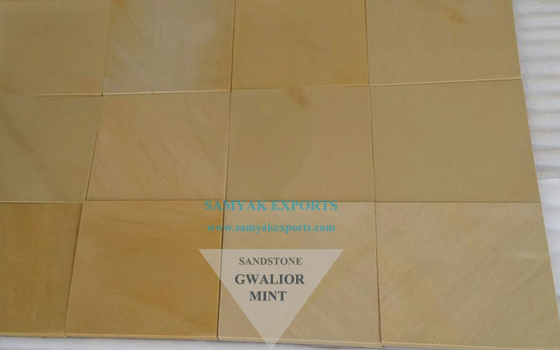 Gwalior Mint Sandstone Tile Slab, Wall Cladding Manufacturer, Exporter in India
