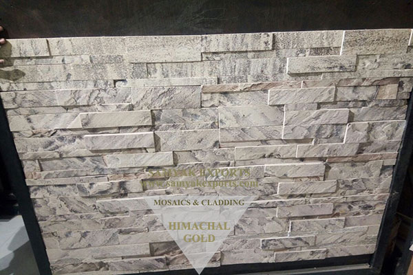 Himachal Gold Stone Wall Cladding Panel, Tile Manufacturer in India
