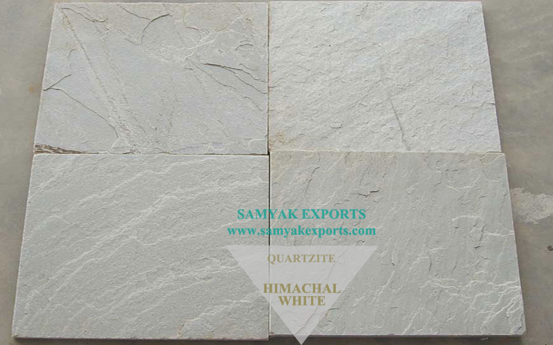 Himachal White Quartzite Tile Slab, Paving, Garden Ornaments, Cladding, Copping Supplier And Manufacturer in India