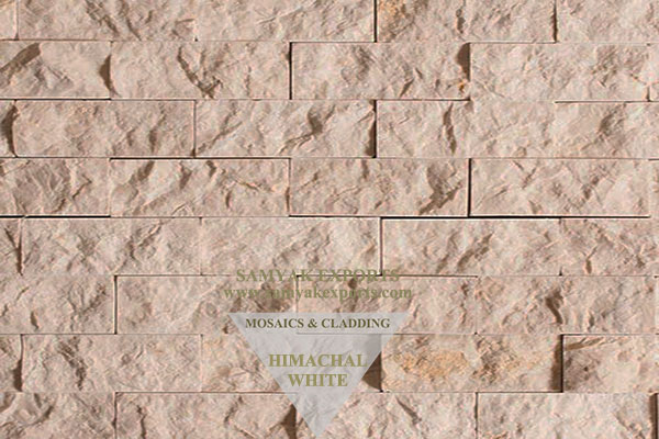 Himachal White Stone Wall Cladding Panel, Tile Manufacturer in India