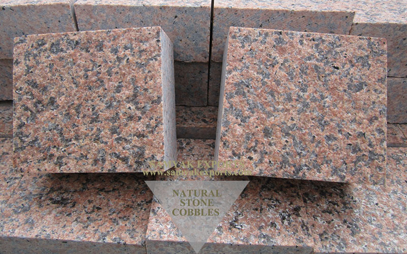 Imperial Pink Granite Stone Cobbles Stone Top Manufacturer And Exporter in India