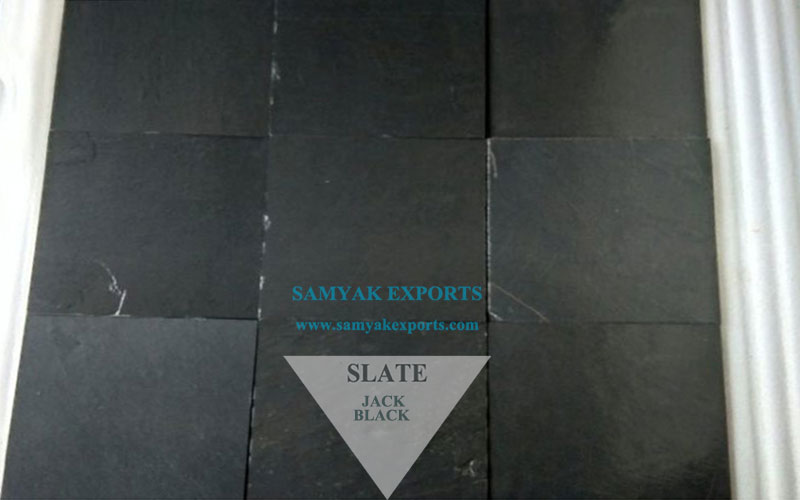 Jack Black Slate Stone Tile Slab Supplier Manufacture in India