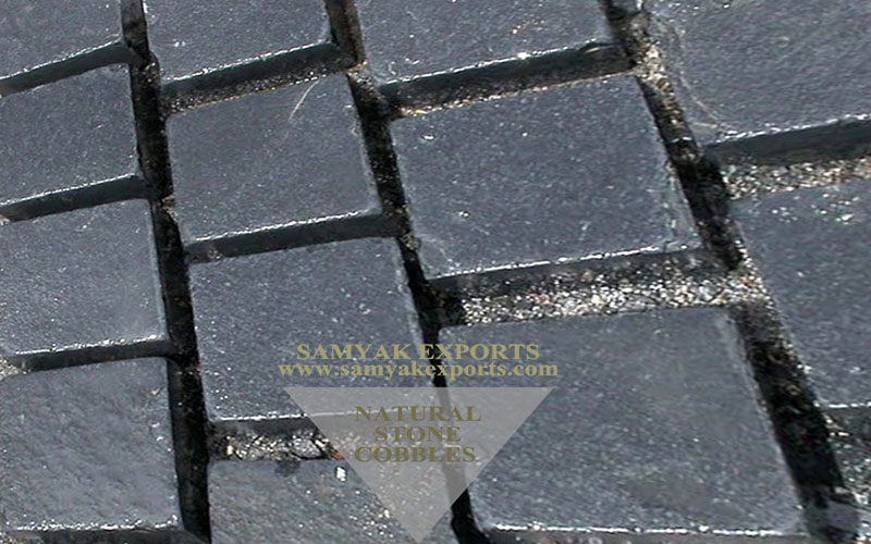 Kadappa Black Sandstone Cobbles Largest Manufacturer and Exporter in India