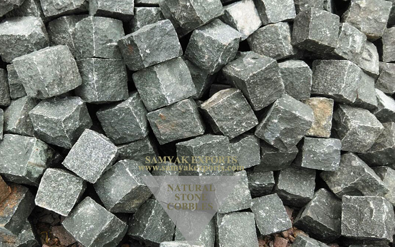 Kandla Grey Sandstone Cobbles Leading Exporter And Manufacturer In India