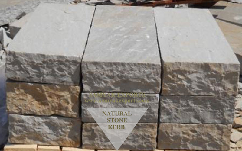 Kandla Grey Sandstone Kerb Stones, Paving Stones Manufacturer, Supplier In India