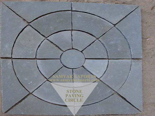 Kota Blue Limestone Paving Circle, Pavers, Paving Kit Supplier, Manufacturer In India