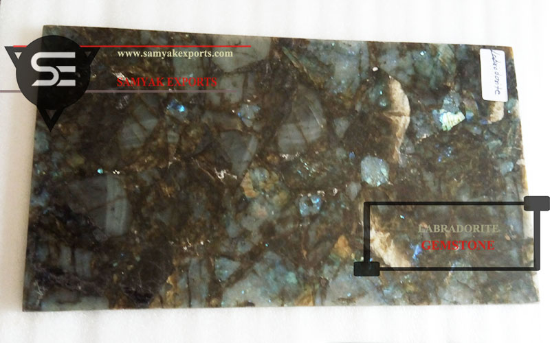 Labradorite Gemstone Tile Slab Manufacturer Supplier Exporter in India