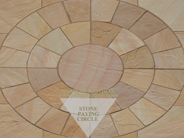 Lalitpur Yellow Sandstone Paving Circle