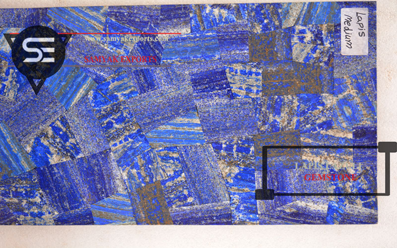 Lapis Lazuli Medium Gemstone Tile Slab Products Tabletop Manufacturer in India