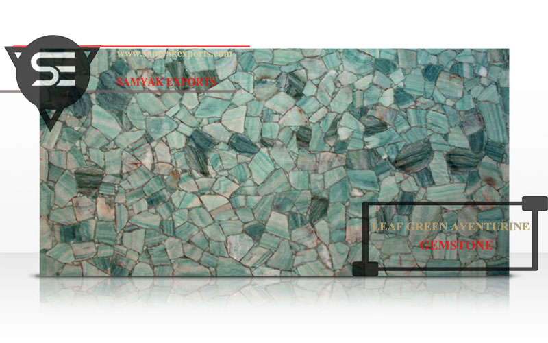 Leaf Green Aventurine Gemstone Tile Slab Leading Manufacturer and Exporter In India