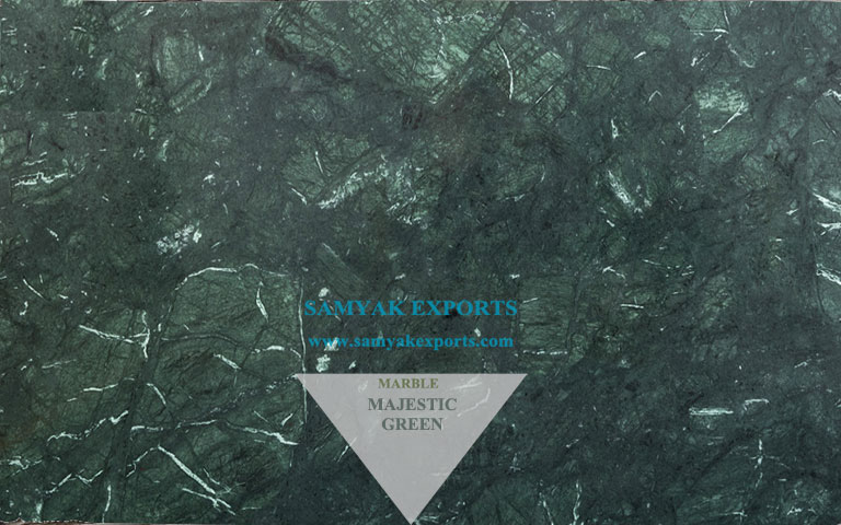Majestic Green Marble Tile, Slab, Flooring, Step Riser, Stairs, Outdoor Panel Manufacturer, Supplier in India