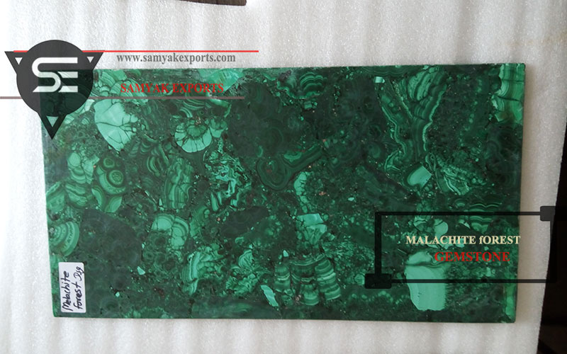 Malachite Forest Gemstone Tile Slab Countertop Manufacturer In India