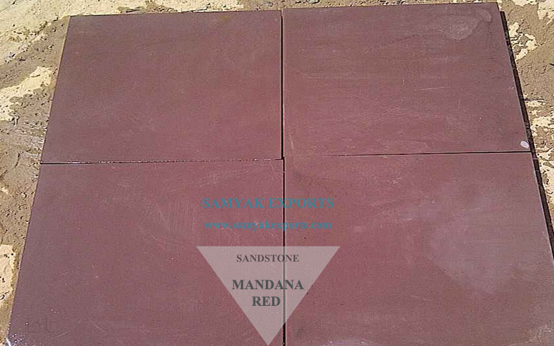Mandana Red Sandstone Tile Slab Largest Manufacturer, Supplier In India
