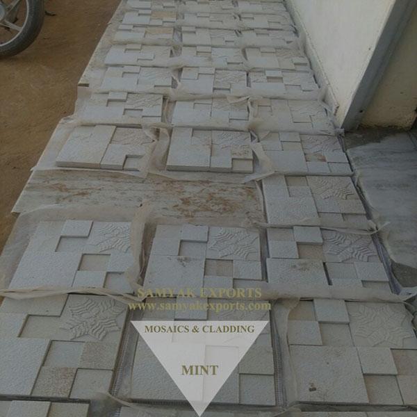 Mint Stone Designer Mosaics Tile