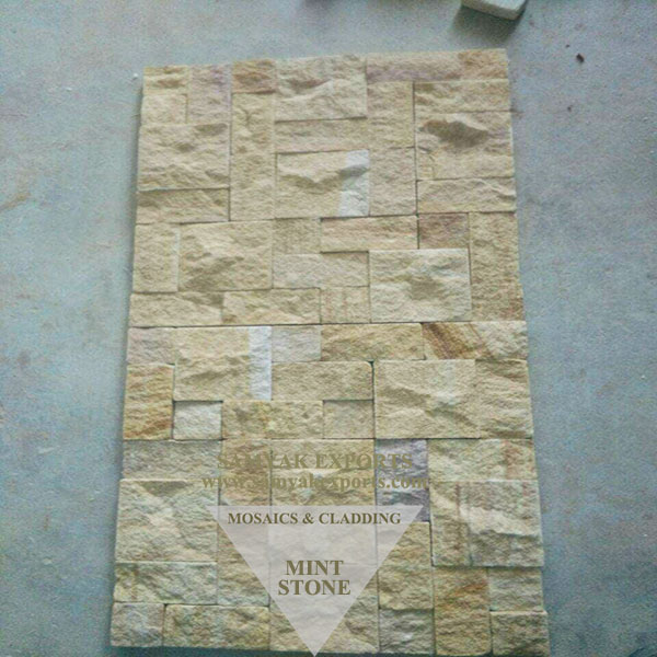 Mint Stone Sandblast Mosaic Tile, Panel Manufacturer in India
