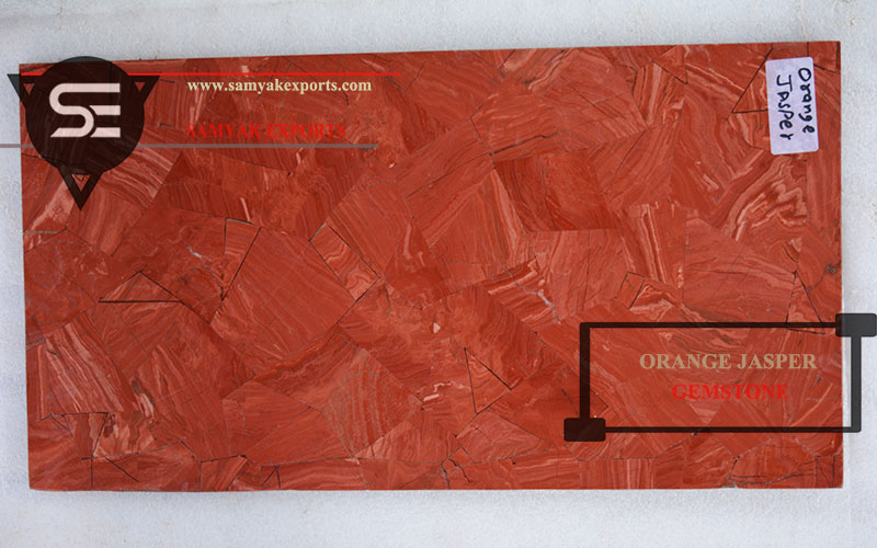 Orange Jasper Gemstone Tile Slab Countertop Manufacturer In India