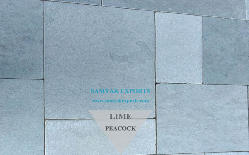 Peacock Limestone Tile Slab, Pool Coping, Garden Paving Manufacturer In India
