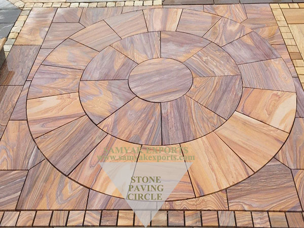 Rainbow Sandstone Paving Circle Manufacturer in India