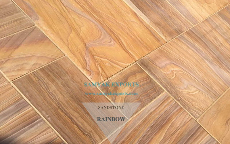 Rainbow Sandstone Tile Slab Manufacturer And Exporter in India