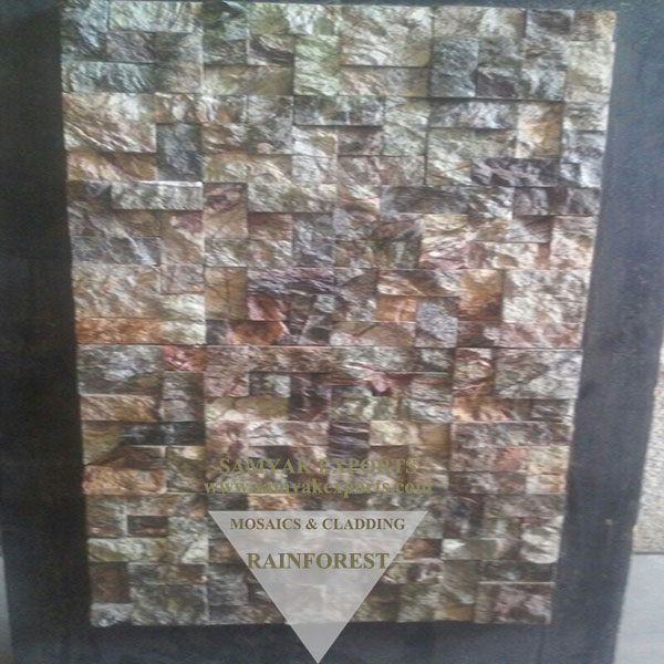 Rainforest Marble Sandblast Mosaic Tile, Panel Manufacturer in India