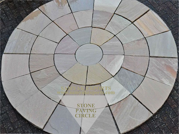 Raj Green Sandstone Paving Circle, Paving Kit, Garden Paving Kit Manufacturer In India