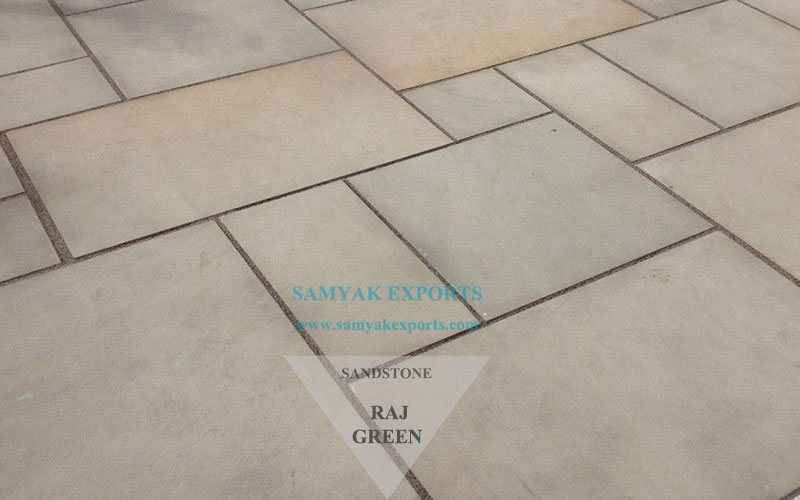 Raj Green Sandstone Tile Slab Manufacturer, Exporter in India
