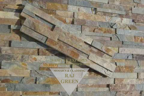 Raj Green Stone Wall Cladding Panel, Tile Manufacturer in India