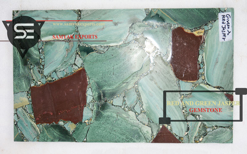 Red Green Jasper Gemstone Tile Slab Manufacturer In India