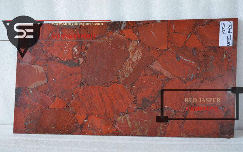 Pure Red Jasper Gemstone Tile Slab Countertop Manufacturer in India