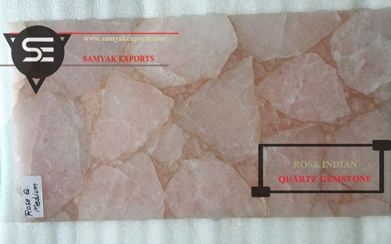 Rose Indian Quartz Gemstone Luxury Surface Manufacturer in India